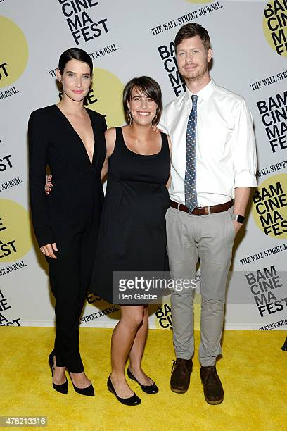 """Cobie Smulders, director Kris Swanberg and Anders Holm attend the """"Unexpected"""" premiere during BAMcinemaFest 2015 at the BAM Peter Jay Sharp Building..."""