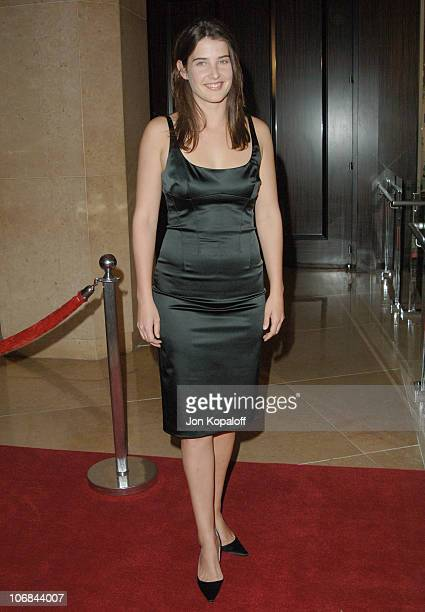 Cobie Smulders during The Museum of Television & Radio Honors Peter Chernin and John Wells with the Annual Los Angeles Gala at Beverly Hilton Hotel...