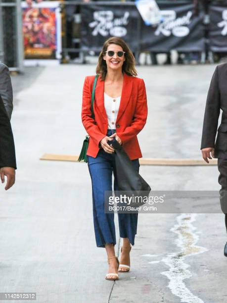 Cobie Smulders is seen arriving at 'Jimmy Kimmel Live' on May 09 2019 in Los Angeles California