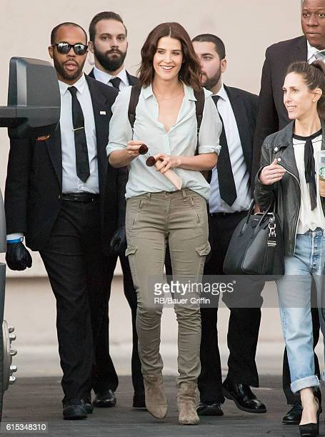 Cobie Smulders is seen at 'Jimmy Kimmel Live' on October 17 2016 in Los Angeles California