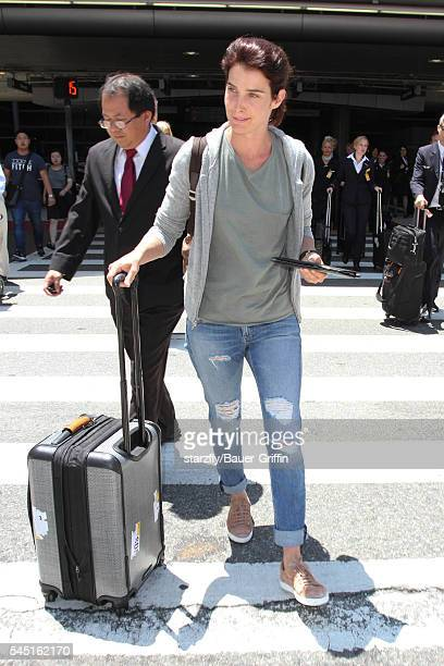 Cobie Smulders is seen at LAX on July 05 2016 in Los Angeles California