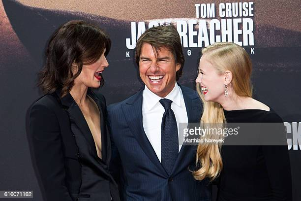 Cobie Smulders Tom Cruise and Danika Yarosh attend the 'Jack Reacher Never Go Back' Berlin Premiere at CineStar Sony Center on October 21 2016 in...