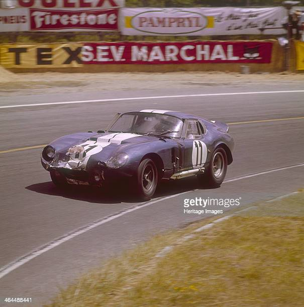 A Cobra Daytona Ford Le Mans France 1965 Racing round a bend The front of the car has taken a knock Driven either by Jack Sears or Richard Thompson...