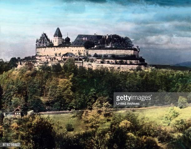 Coburg stronghold above the city that once was capital of the duchy of SaxeCoburg and Gotha Bavaria 1920s