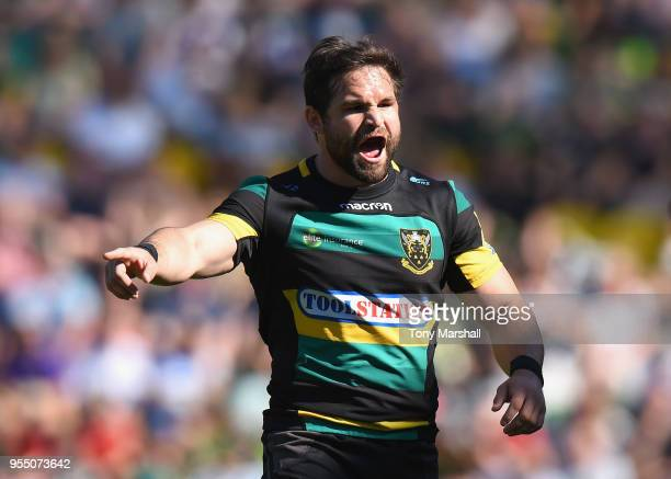 Cobus Reinach of Northampton Saints during the Aviva Premiership match between Northampton Saints and Worcester Warriors at Franklin's Gardens on May...