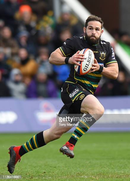 Cobus Reinach of Northampton Saints during the Premiership Rugby Cup Final match between Northampton Saints and Saracens at Franklin's Gardens on...