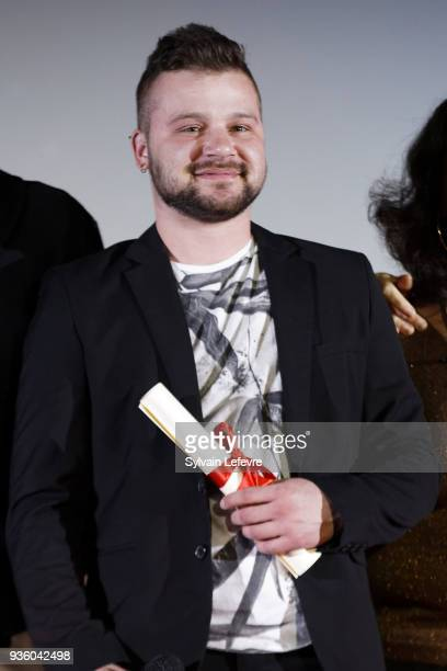 Coby attends tribute to JeanPierre Leaud during Valenciennes Film Festival on March 21 2018 in Valenciennes France