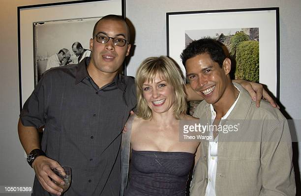 Coby Bell Amy Carlson and Anthony Ruivivar during Conde Nast Traveler Celebrates 15th Anniversary with photo exhibit at the American Museum of...
