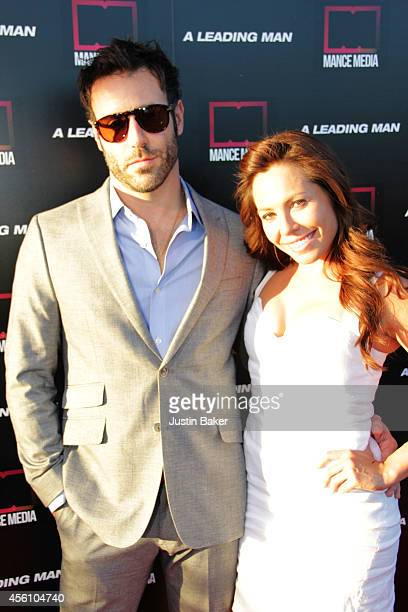 Coby Ryan McLaughlin and guest attend A Leading Man Los Angeles Premiere at the Vista Theatre on September 24 2014 in Los Angeles California