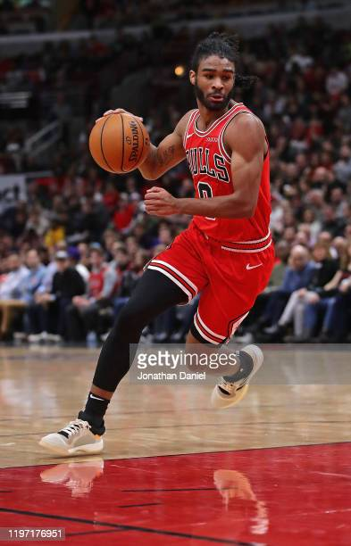 Coby White of the Chicago Bulls moves against the Milwaukee Bucks at the United Center on December 30 2019 in Chicago Illinois NOTE TO USER User...