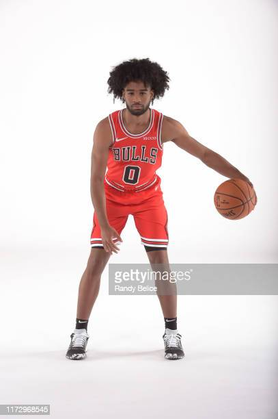 Coby White of the Chicago Bulls poses for a portrait during 2019 NBA Media Day on September 30 2019 at the Advocate Center in Chicago Illinois NOTE...