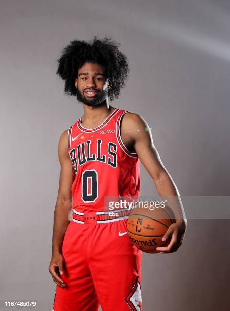 Coby White of the Chicago Bulls poses for a portrait during the 2019 NBA Rookie Photo Shoot on August 11 2019 at the Ferguson Recreation Center in...