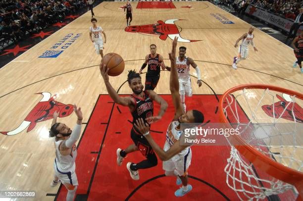 Coby White of the Chicago Bulls shoots the ball against the Phoenix Suns on February 22 2020 at the United Center in Chicago Illinois NOTE TO USER...
