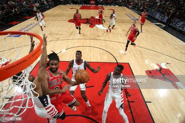Coby White of the Chicago Bulls shoots the ball against the Washington Wizards on February 23 2020 at the United Center in Chicago Illinois NOTE TO...