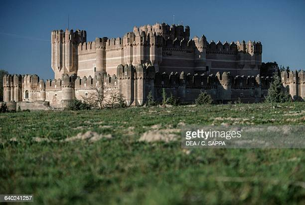 Coca Castle before its restoration Castile and Leon Spain 15th century