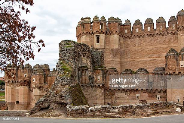Coca Castle was built in the 15th century and is considered one of the best examples of the Spanish gotico-mudejar, in Segovia, Castilla y León,...