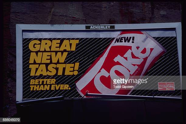 Coca Cola billboard for the shortlived New Coke