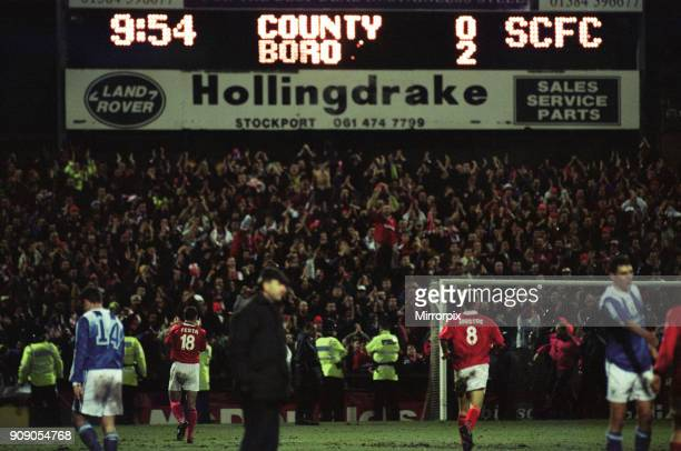 Coca Cola Cup Semi Final First Leg, Stockport 0 - 2 Middlesbrough, held at Edgeley Park, 26th February 1997.