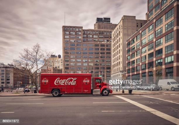 Coca Cola red truck
