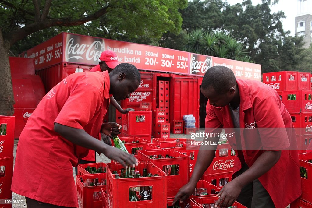 Coca Cola Sales men work at Rosinje Coca Cola Distributor on October