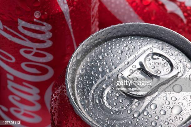 coca-cola può - lid foto e immagini stock