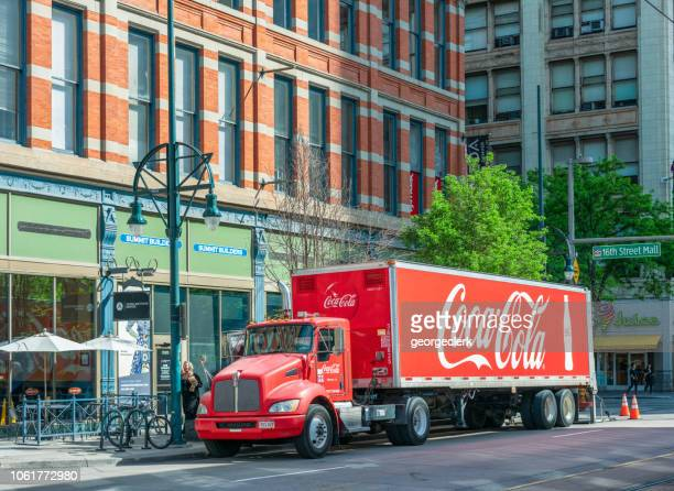 Coca-Cola delivery truck in Denver