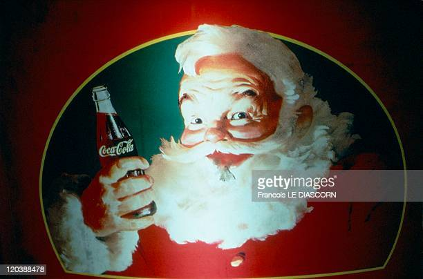 Cocacola in 1997 Christmas advertising on a vending machine