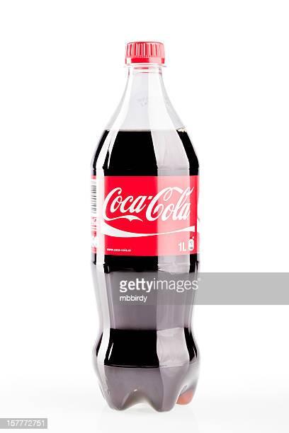 Coca-Cola plastic bottle isolated on white background