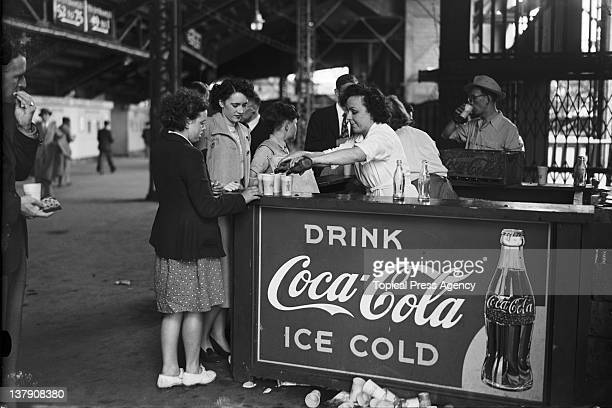 A CocaCola stall at Wembley Stadium during the Olympic Games in London August 1948