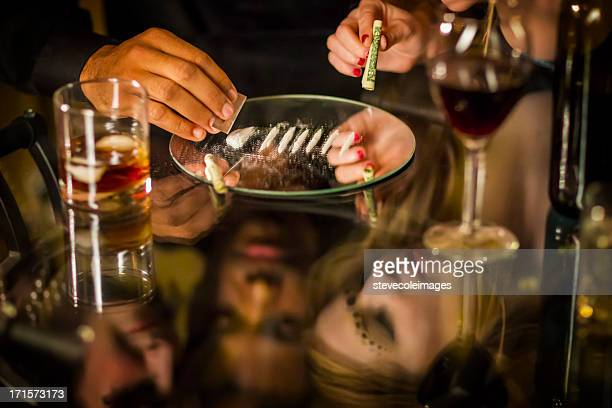 cocaine party - cocaine stock photos and pictures