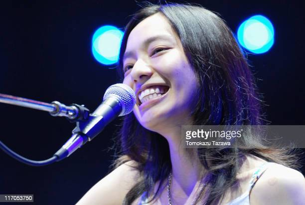 Cocco performs on stage at the Tokyo leg of the Live Earth series of concerts, at Makuhari Messe, Chiba on July 7, 2007 in Tokyo, Japan.