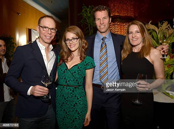 CoCEO of Chipotle Steve Ells actress Karynn Moore coCEO of Chipotle Monty Moran and Kathy Moran celebrate the world premiere of Farmed and Dangerous...