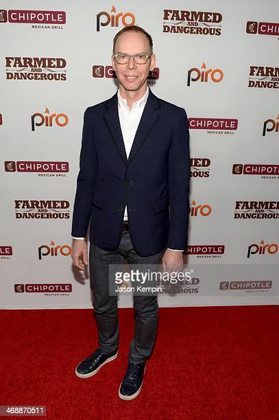 CoCEO of Chipotle Steve Ells walks the red carpet at the world premiere of Farmed and Dangerous a Chipotle/Piro production at DGA Theater on February...