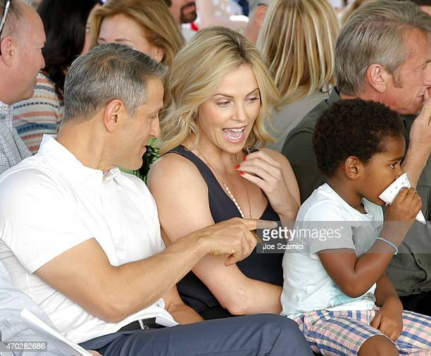 CoCEO of William Morris Endeavor Ari Emanuel actress Charlize Theron and Jackson Theron attend the Points of Light generationOn Block Party on April...