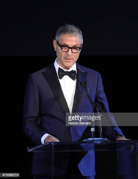 CoCEO of William Morris Endeavor Ari Emanuel speaks onstage during the 2017 LACMA Art Film Gala Honoring Mark Bradford and George Lucas presented by...