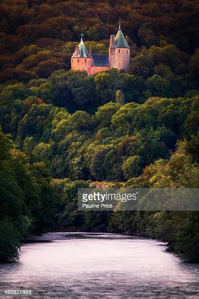 Coch Castle from the footbridge, Tongwynlais.
