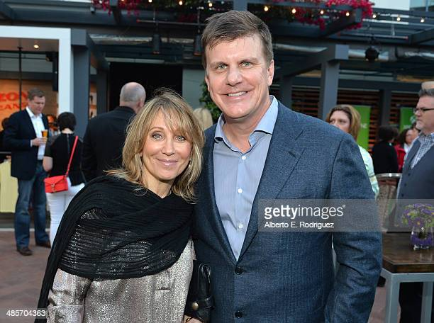 CoChair and CEO of DreamWorks Stacey Snider and CEO of RealD Michael V Lewis attend the City Year Los Angeles 'Spring Break' Fundraiser at Sony...
