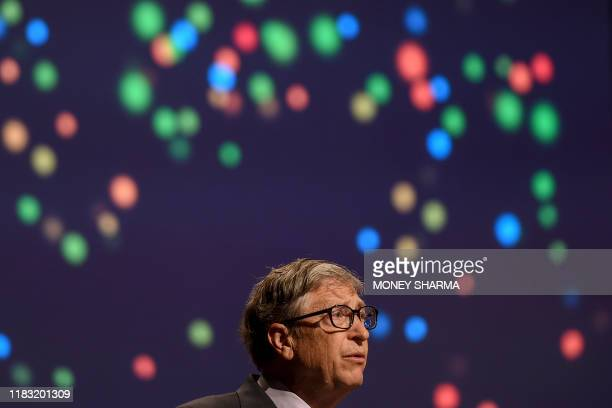 Co-chair and Trustee of the Bill and Melinda Gates Foundation, Bill Gates, speaks to the gathering during the inauguration of the 8th International...