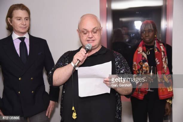CoChair Eric Javits and event host Mickey Boardman attend Housing Works' Fashion for Action 2017 charity event at Fred's at Barney's on November 16...