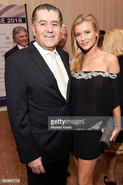 FIDF cochair Haim Saban and model Joanna Krupa attend Friends Of The Israel Defense Forces Western Region Gala at The Beverly Hilton Hotel on...