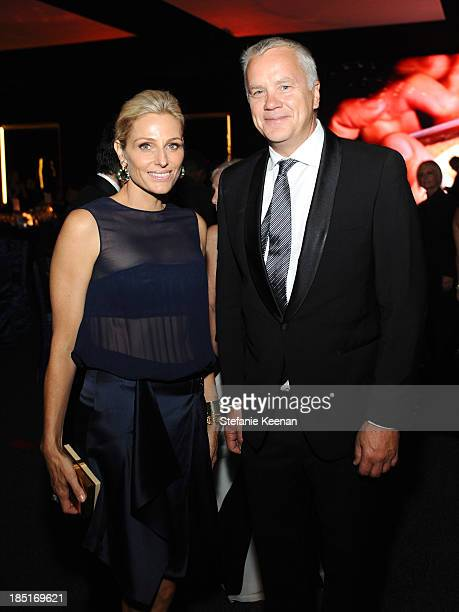 CoChair Jamie Tisch and actor Tim Robbins attend the Wallis Annenberg Center for the Performing Arts Inaugural Gala presented by Salvatore Ferragamo...