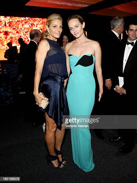 CoChair Jamie Tisch and model Amber Valletta wearing Ferragamo attend the Wallis Annenberg Center for the Performing Arts Inaugural Gala presented by...