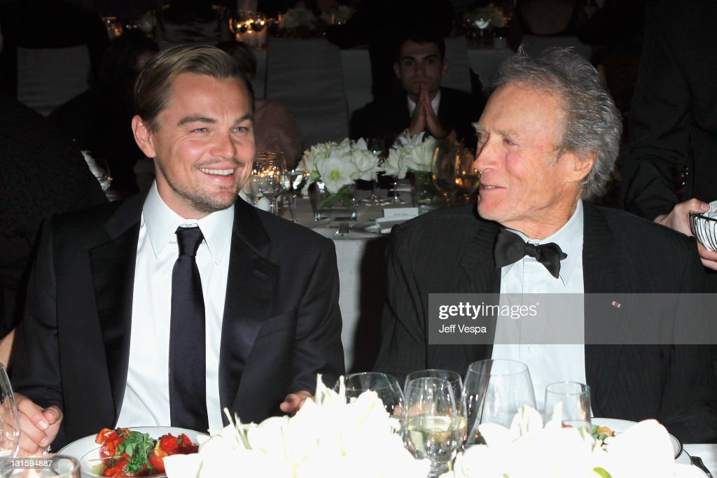 Co-chair Leonardo DiCaprio and honoree Clint Eastwood attend LACMA Art + Film Gala Honoring Clint Eastwood and John Baldessari Presented By Gucci at Los Angeles County Museum of Art on November 5, 2011 in Los Angeles, California.
