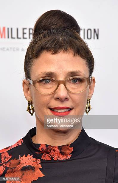 Cochair of Arthur Miller Foundation Rebecca Miller attends Arthur Miller One Night 100 Years benefit at Lyceum Theatre on January 25 2016 in New York...