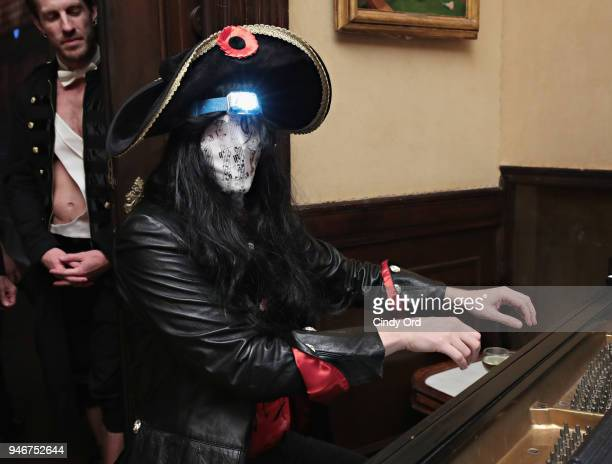 Cochair of Dali Ball Erik Carlson performs during the Dali Ball at The National Arts Club on April 13 2018 in New York City