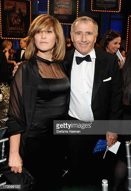 Co-chair of Sony Pictures Entertainment, Inc. And Chairman of SPE's Columbia TriStar Motion Picture Group Amy Pascal and Bernard Weinraub attend...