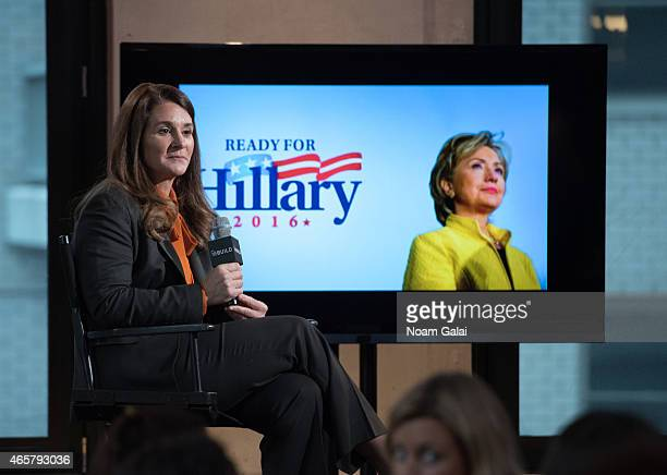 Co-chair of the Bill and Melinda Gates Foundation Melinda Gates attends the AOL BUILD Speaker Series at AOL Studios In New York on March 10, 2015 in...