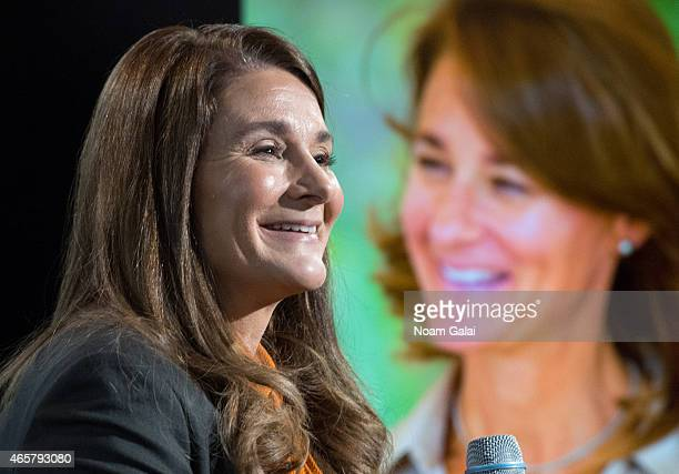 Cochair of the Bill and Melinda Gates Foundation Melinda Gates attends the AOL BUILD Speaker Series at AOL Studios In New York on March 10 2015 in...