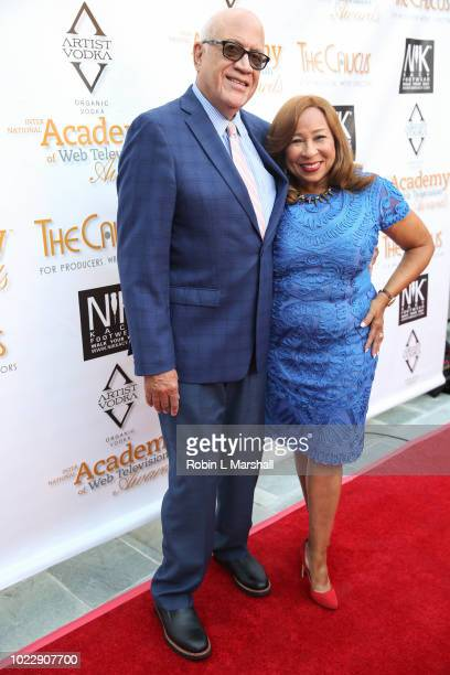 CoChair of the Caucas Tanya Hart and Phil Hart attend the 6th International Academy of Web Television Awards at Skirball Cultural Center on August 24...