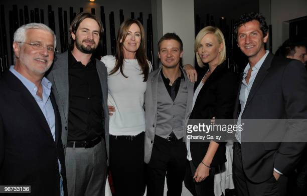 CoChairman and CEO Summit Entertainment Rob Friedman writer Mark Boal director Kathryn Bigelow actor Jeremy Renner actress Charlize Theron and...